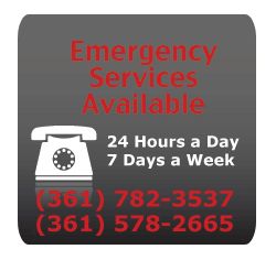 Emergency Services Available 24 Hours a Day, 7 Days a Week. (361) 782 3537