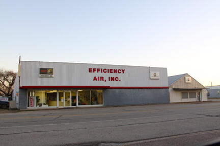 Efficiency Air. Exterior view of building