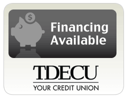financing is available through TDECU on air conditioners and heaters